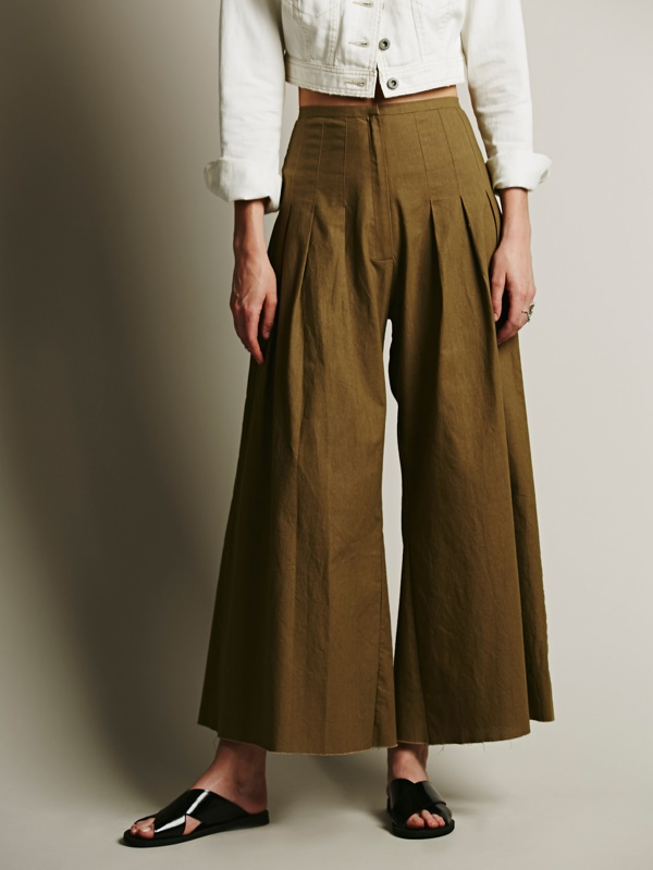 FP ONE High Waisted Pintuck Culottes available at Free People for $98.00