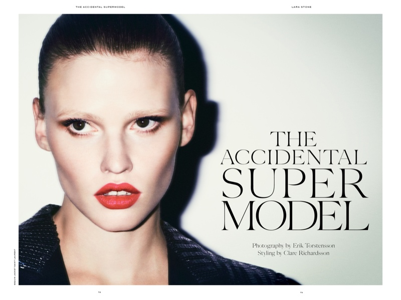 Tonne Goodman, Lara Stone Star in Industrie Magazine No. 7