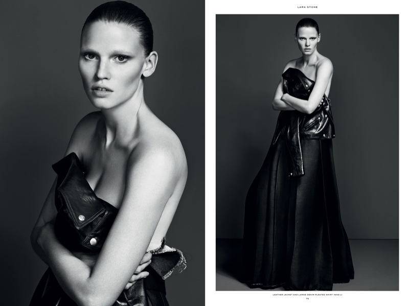 industrie magazine no 7 issue2 Tonne Goodman, Lara Stone Star in Industrie Magazine No. 7