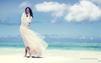 Into the Blue: Karolina Babczynska by Gabor Jurina for FASHION Magazine