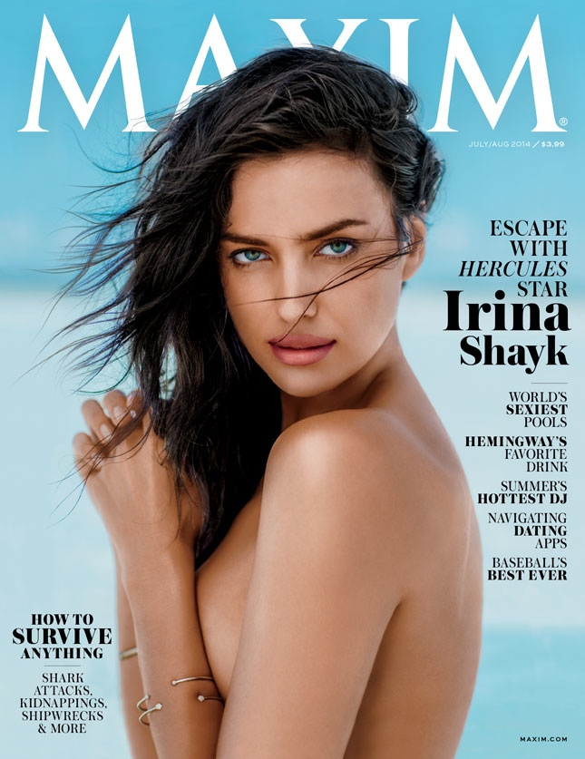 irina shayk maxim 2014 photos4 Irina Shayk Stars in Maxim, Says She & Cristiano Have to be Strong