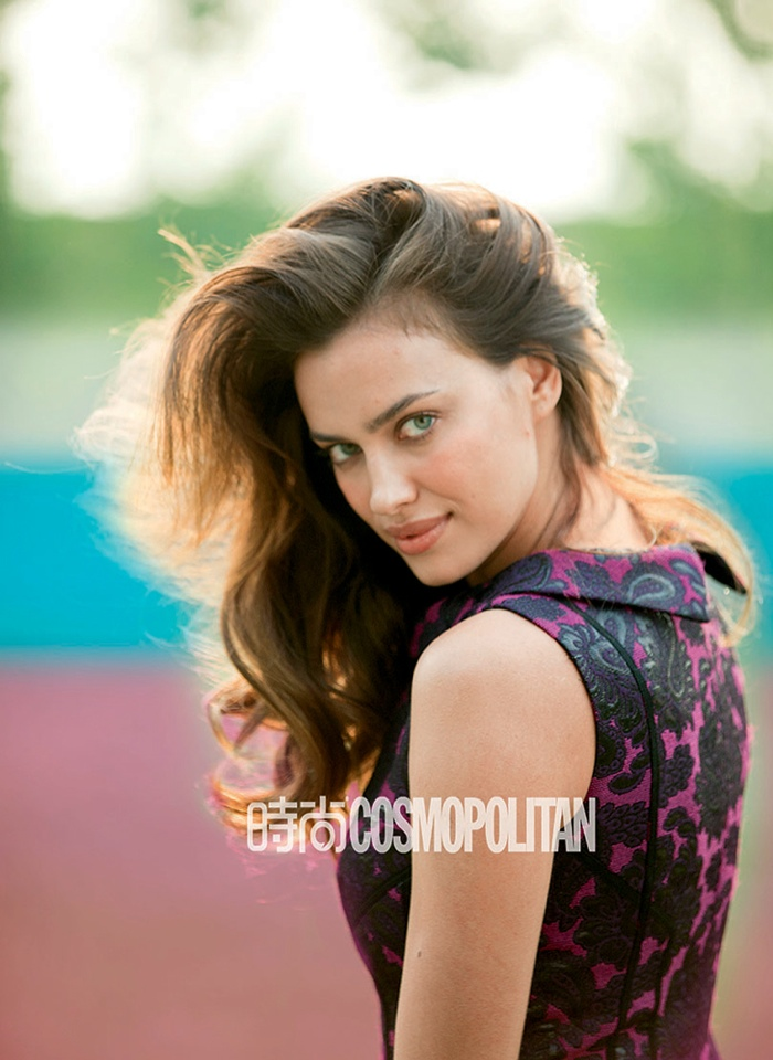 irina shayk outdoors photos3 Irina Shayk Shows Her Softer Side for July Cover Story of Cosmopolitan China
