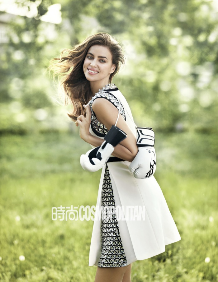 irina shayk outdoors photos4 Irina Shayk Shows Her Softer Side for July Cover Story of Cosmopolitan China
