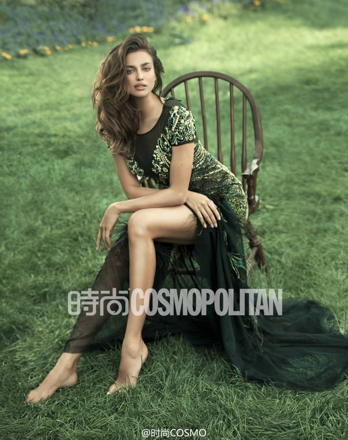 irina shayk outdoors photos7 Irina Shayk Shows Her Softer Side for July Cover Story of Cosmopolitan China