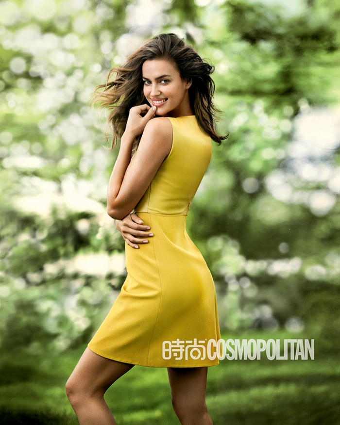 irina shayk outdoors photos9 Irina Shayk Shows Her Softer Side for July Cover Story of Cosmopolitan China