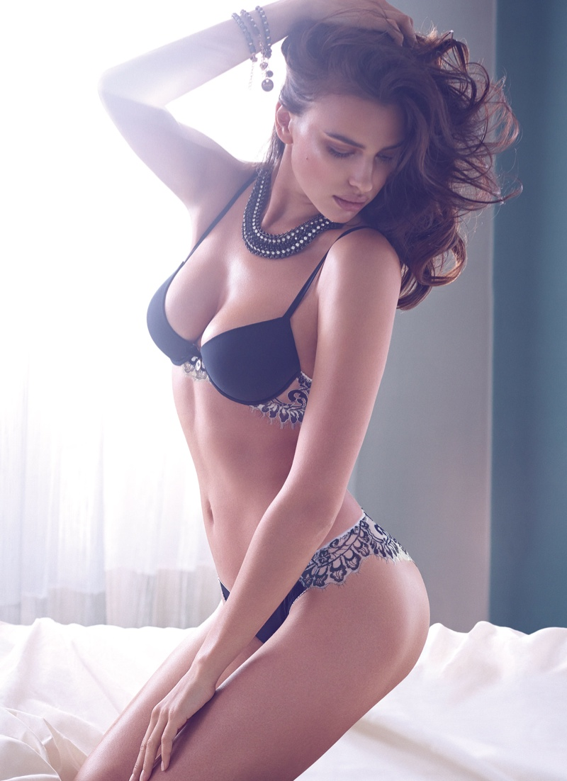 irina shayk twin set fall 2014 campaign photos1 Irina Shayk is a Lingerie Stunner for Twin Sets Fall 2014 Campaign