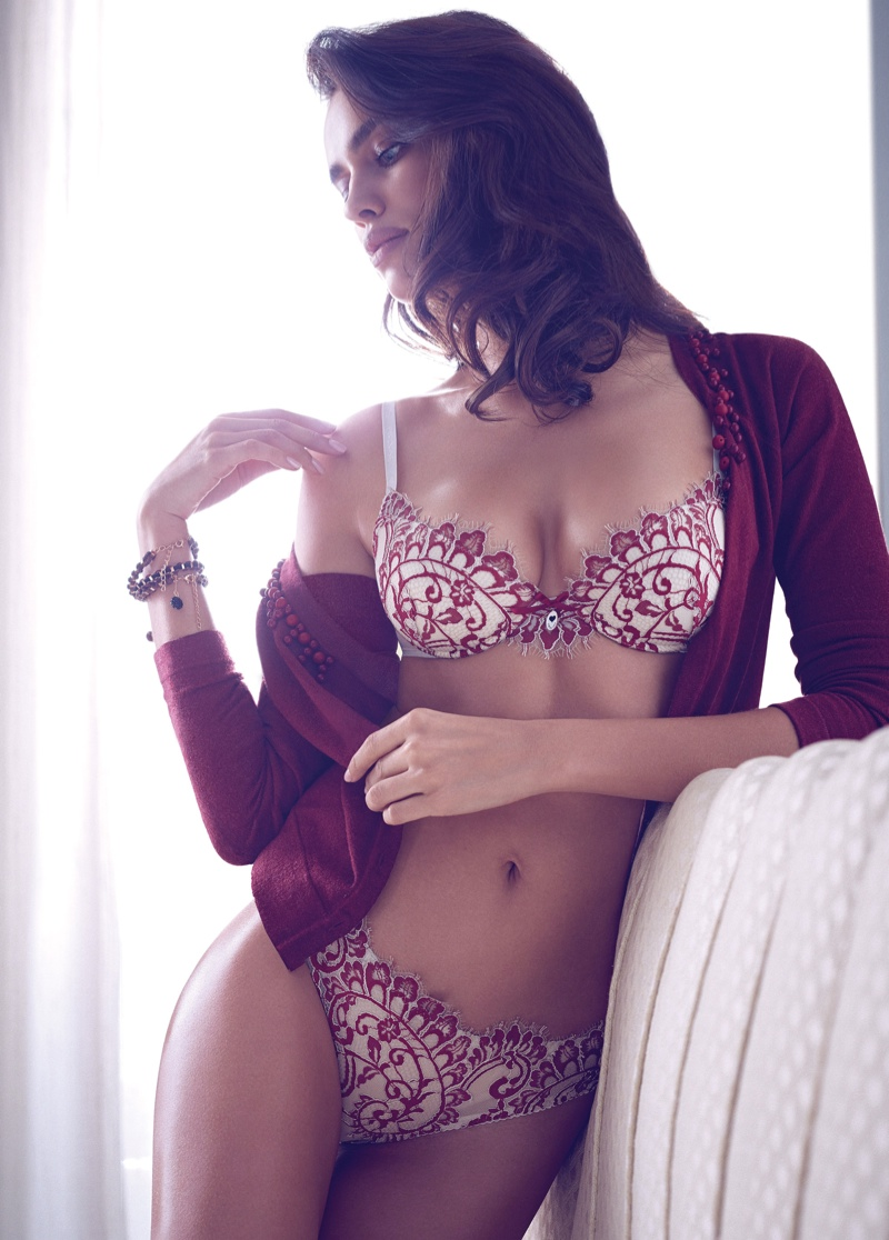 irina shayk twin set fall 2014 campaign photos2 Irina Shayk is a Lingerie Stunner for Twin Sets Fall 2014 Campaign
