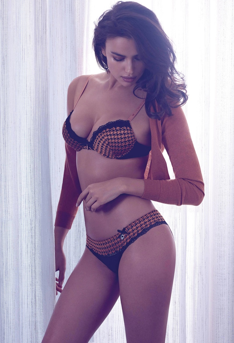 irina shayk twin set fall 2014 campaign photos4 Irina Shayk is a Lingerie Stunner for Twin Sets Fall 2014 Campaign