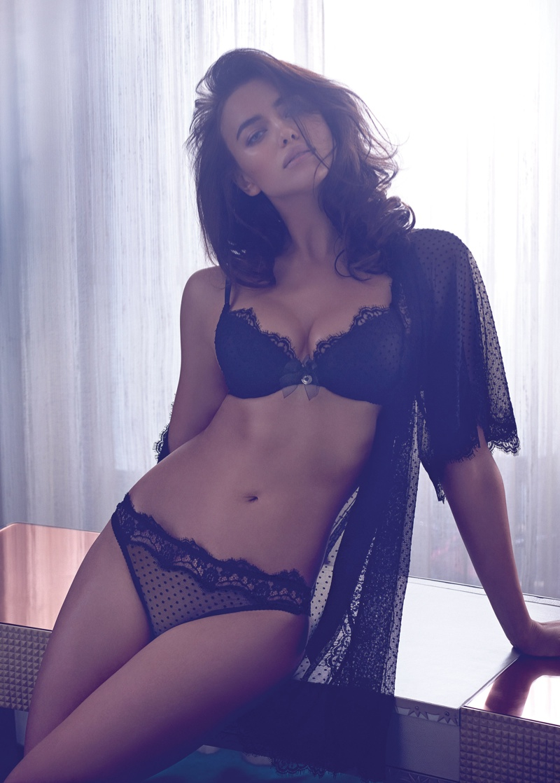 irina shayk twin set fall 2014 campaign photos5 Irina Shayk is a Lingerie Stunner for Twin Sets Fall 2014 Campaign