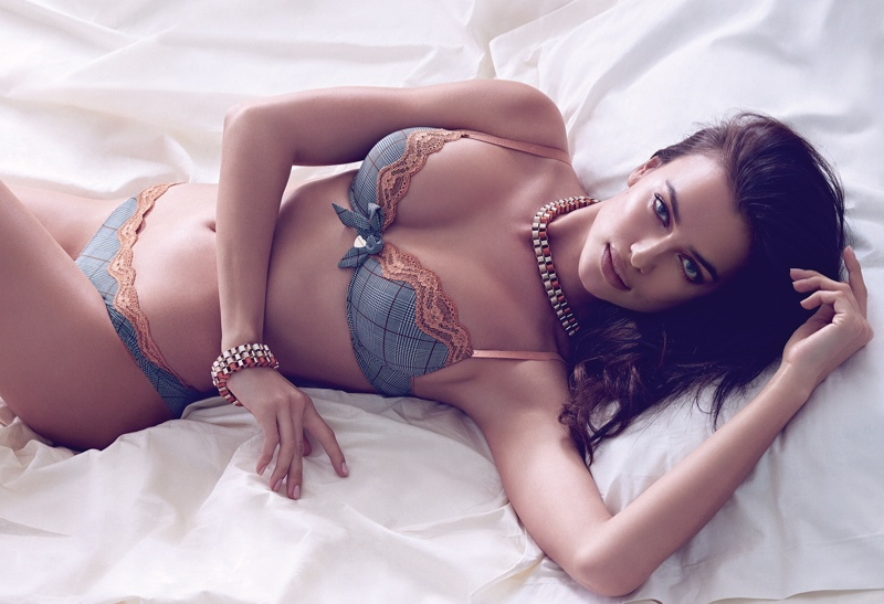 irina shayk twin set fall 2014 campaign photos6 Irina Shayk is a Lingerie Stunner for Twin Sets Fall 2014 Campaign