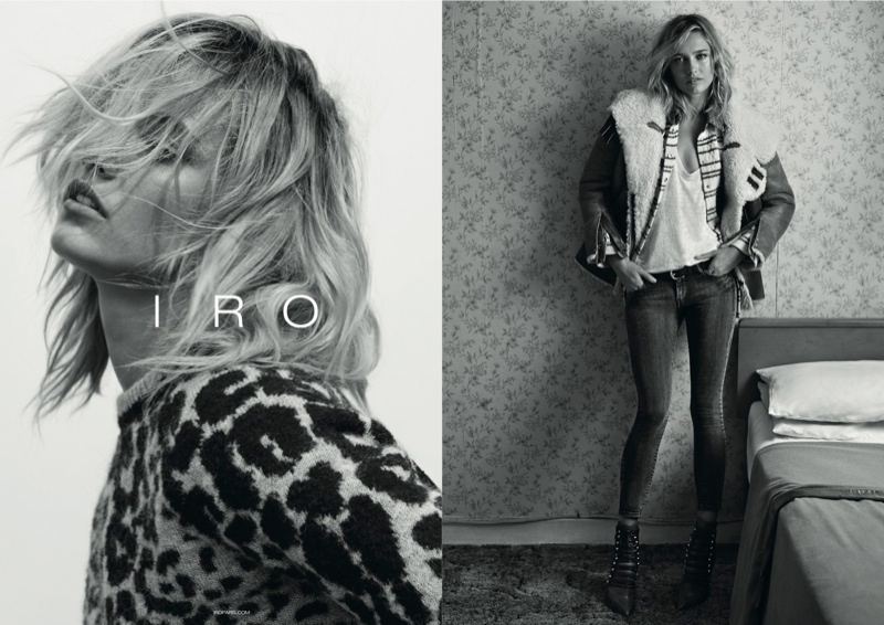 iro 2014 fall winter campaign1 Karmen Pedaru Exudes Rock & Roll Cool for IROs Fall 2014 Campaign