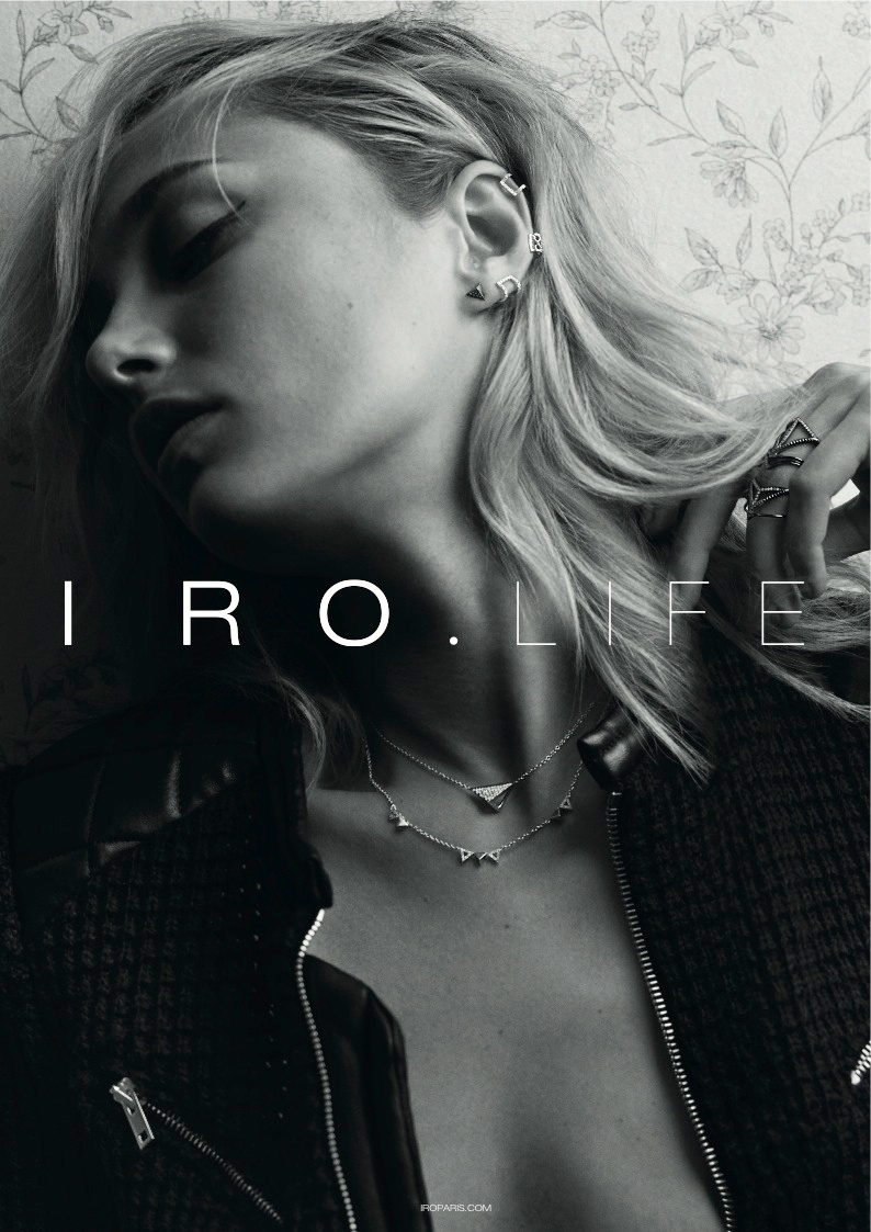 iro 2014 fall winter campaign3 Karmen Pedaru Exudes Rock & Roll Cool for IROs Fall 2014 Campaign
