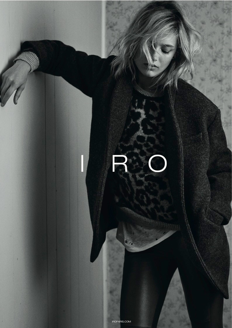 iro 2014 fall winter campaign4 Karmen Pedaru Exudes Rock & Roll Cool for IROs Fall 2014 Campaign