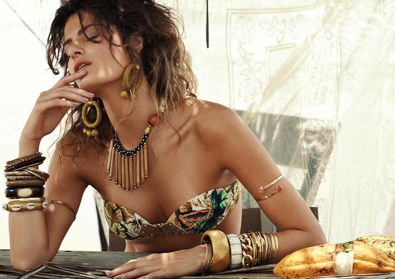 isabeli fontana bikinis morena rosa 2015 6 Isabeli Fontana Models Bikinis for Morena Rosa Beach Summer 2015 Campaign