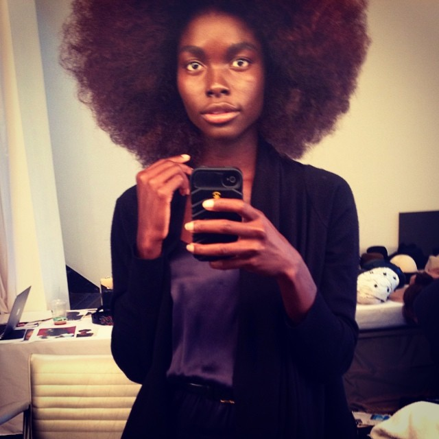 Jeneil Williams rocks an afro