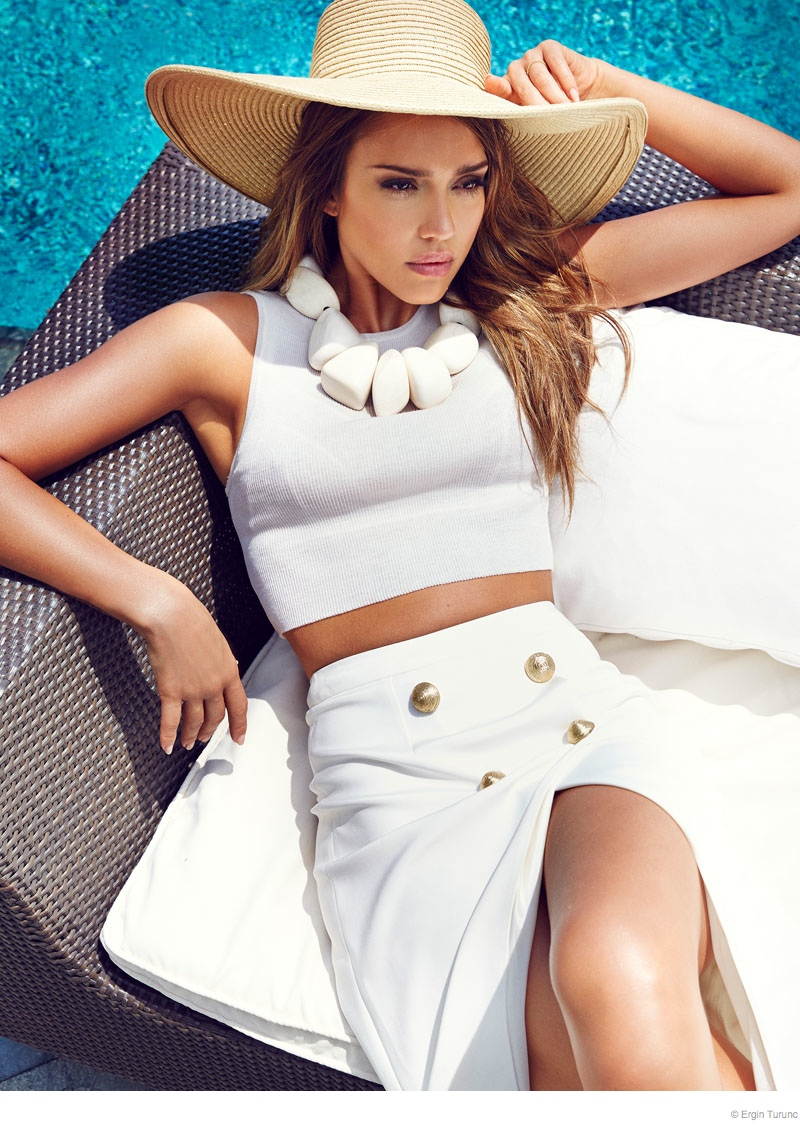 Jessica Alba Poses Poolside for Cosmopolitan Turkey by Ergin Turunc