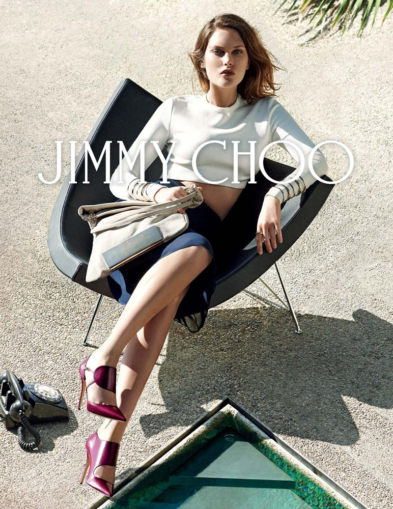 Catherine McNeil starred in Jimmy Choo's fall 2014 campaign