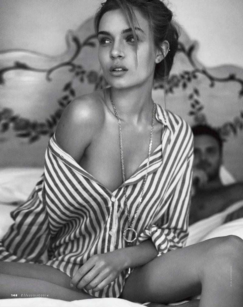 josephine skriver dan martensen shoot13  Josephine Skriver is 'In Love' for Elle Italia Shoot by Dan Martensen