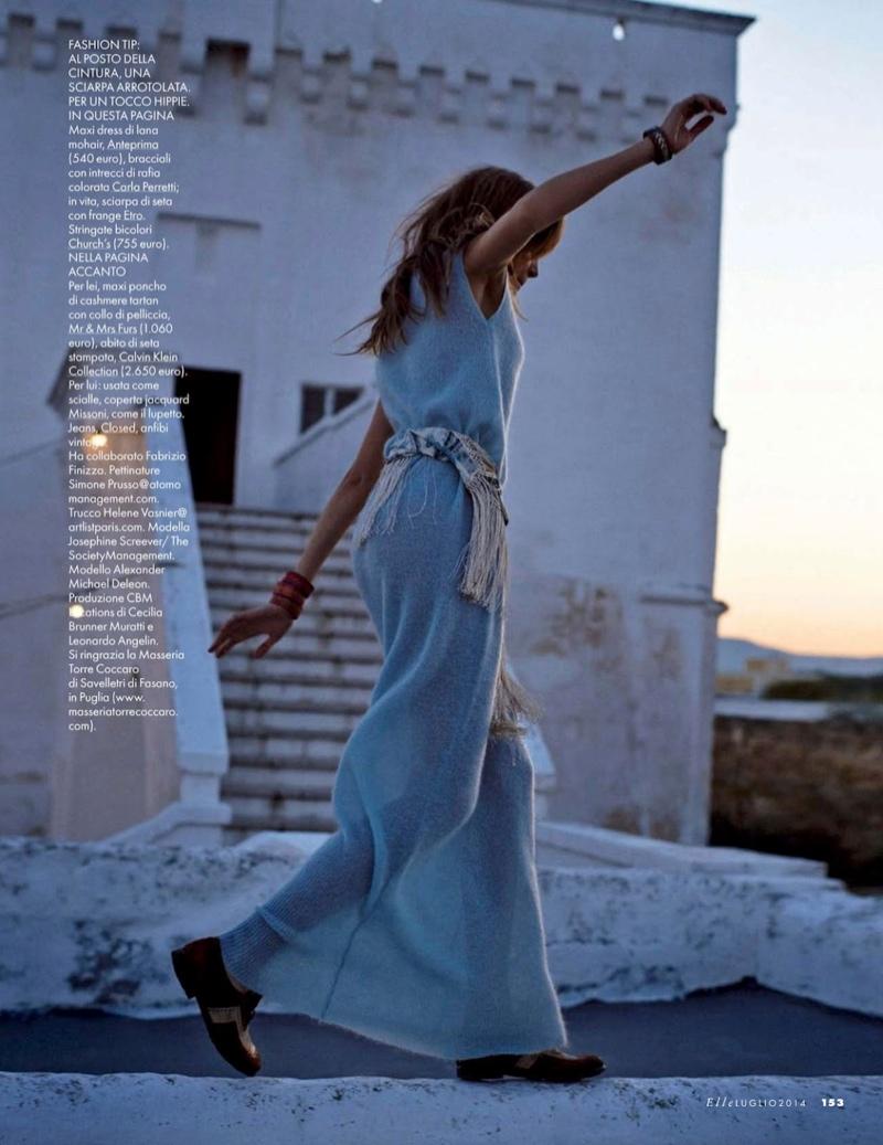 josephine skriver dan martensen shoot18  Josephine Skriver is 'In Love' for Elle Italia Shoot by Dan Martensen