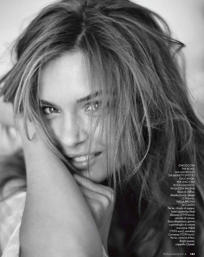 josephine skriver dan martensen shoot7  Josephine Skriver is 'In Love' for Elle Italia Shoot by Dan Martensen