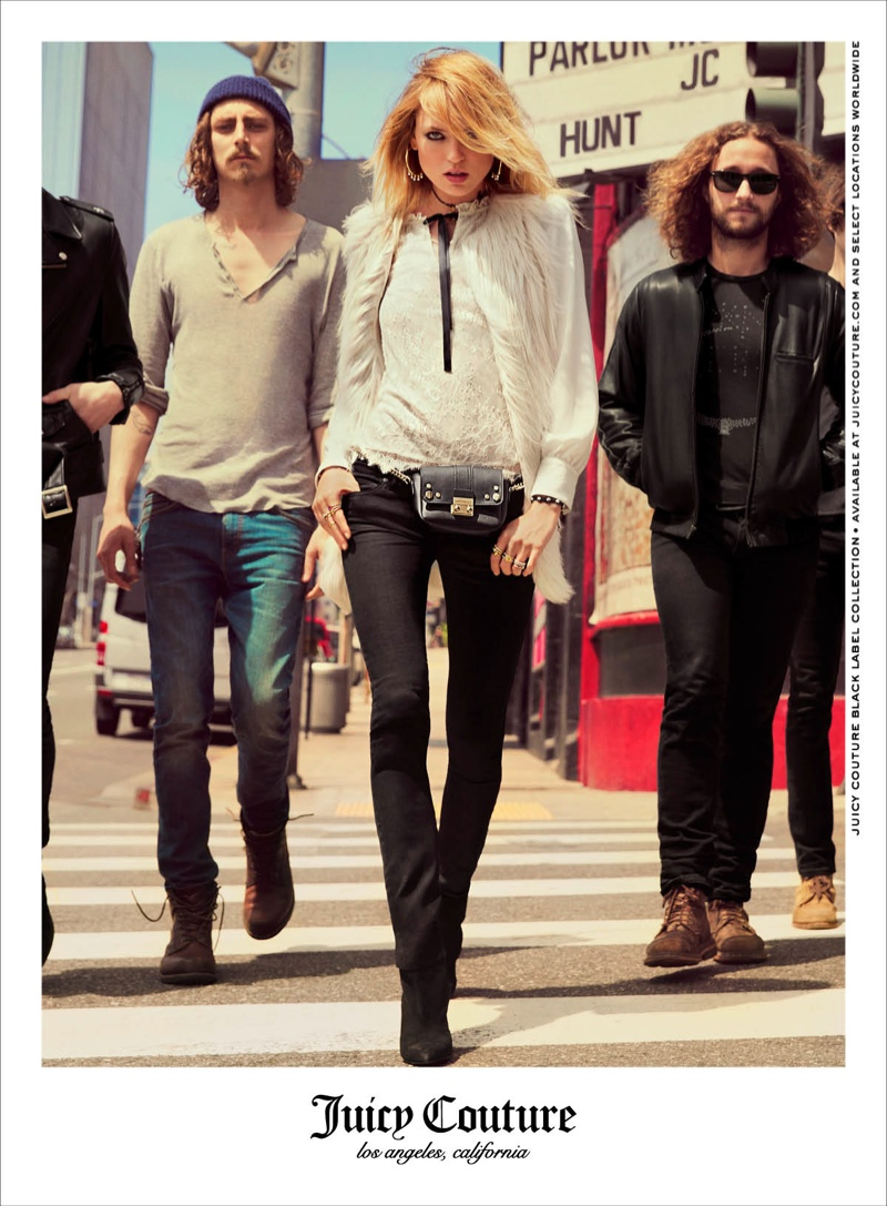 juicy couture 2014 fall winter campaign1 Martha Hunt Takes Hollywood for Juicy Couture's Fall 2014 Campaign