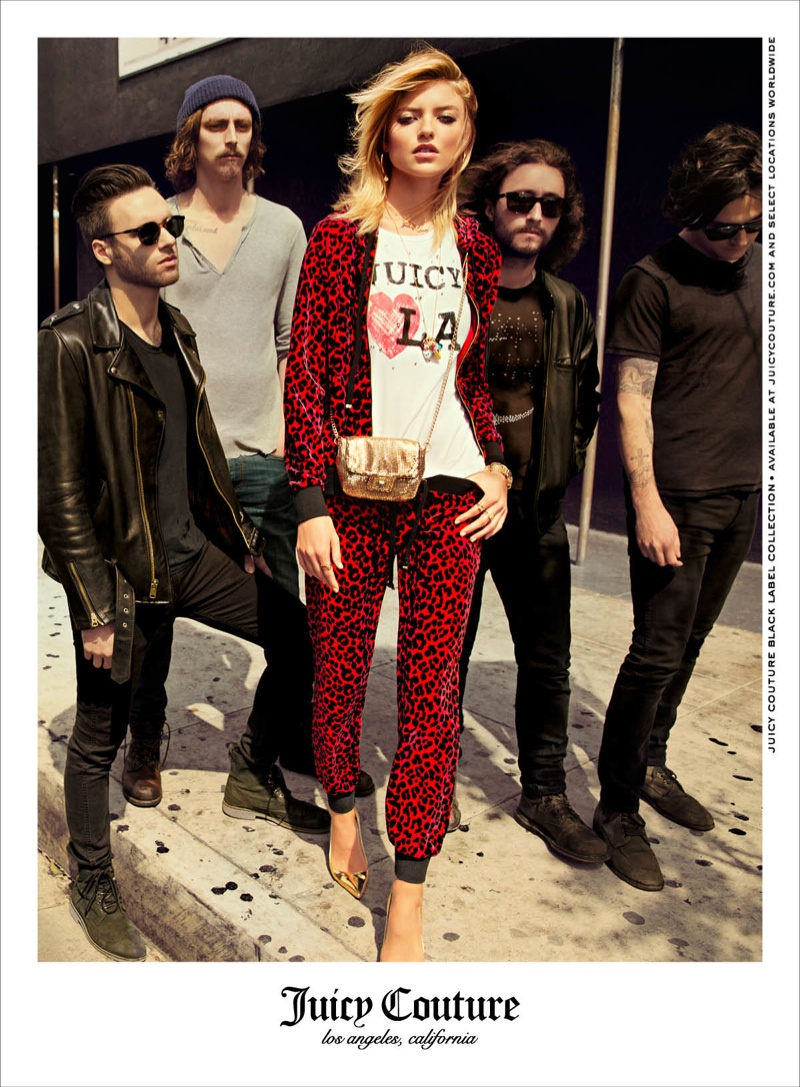 juicy couture 2014 fall winter campaign7 Martha Hunt Takes Hollywood for Juicy Couture's Fall 2014 Campaign