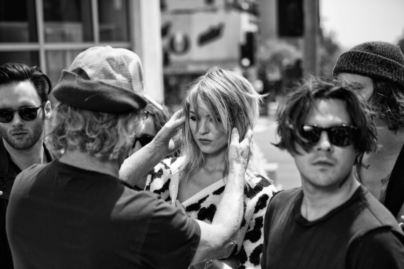 juicy couture behind the scenes fall ads3 Exclusive: Behind the Scenes on Juicy Coutures Fall Ads with Martha Hunt