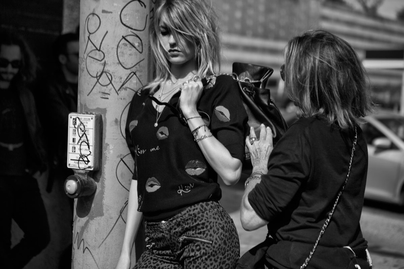 juicy couture behind the scenes fall ads6 Exclusive: Behind the Scenes on Juicy Coutures Fall Ads with Martha Hunt