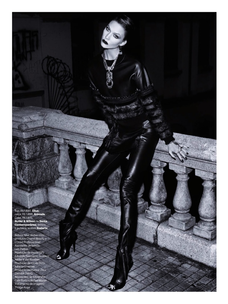 karlie kloss henrique gendre gothic10 Karlie Kloss is Gothic Glam for Vogue Brazil Shoot by Henrique Gendre