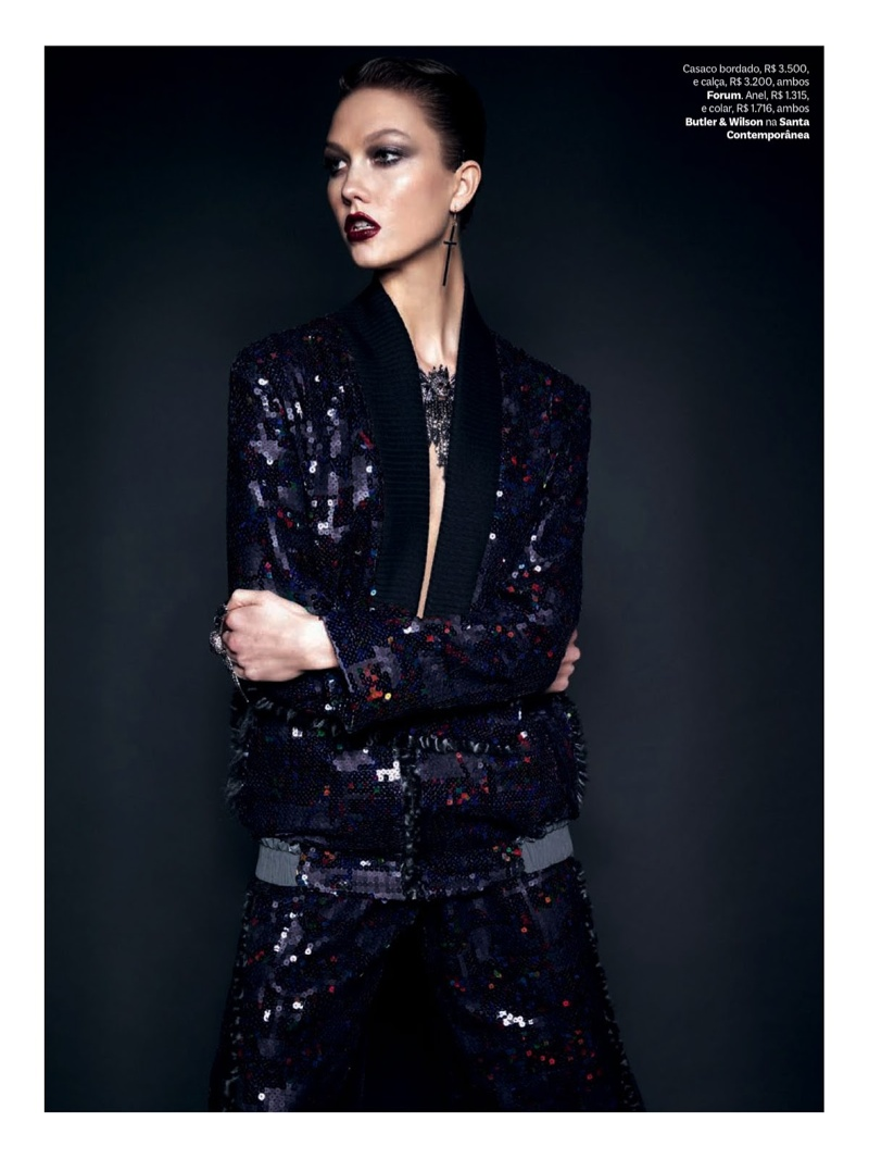 karlie kloss henrique gendre gothic4 Karlie Kloss is Gothic Glam for Vogue Brazil Shoot by Henrique Gendre