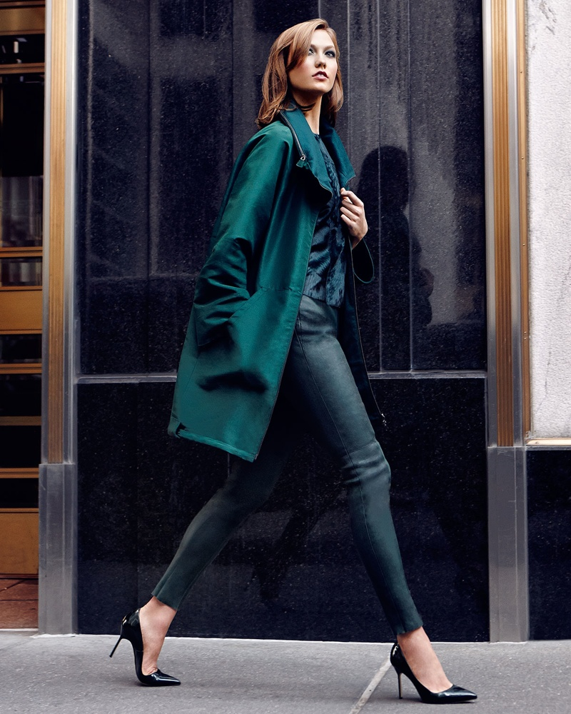 Karlie Kloss Poses In New York Streets For Neiman Marcus Shoot