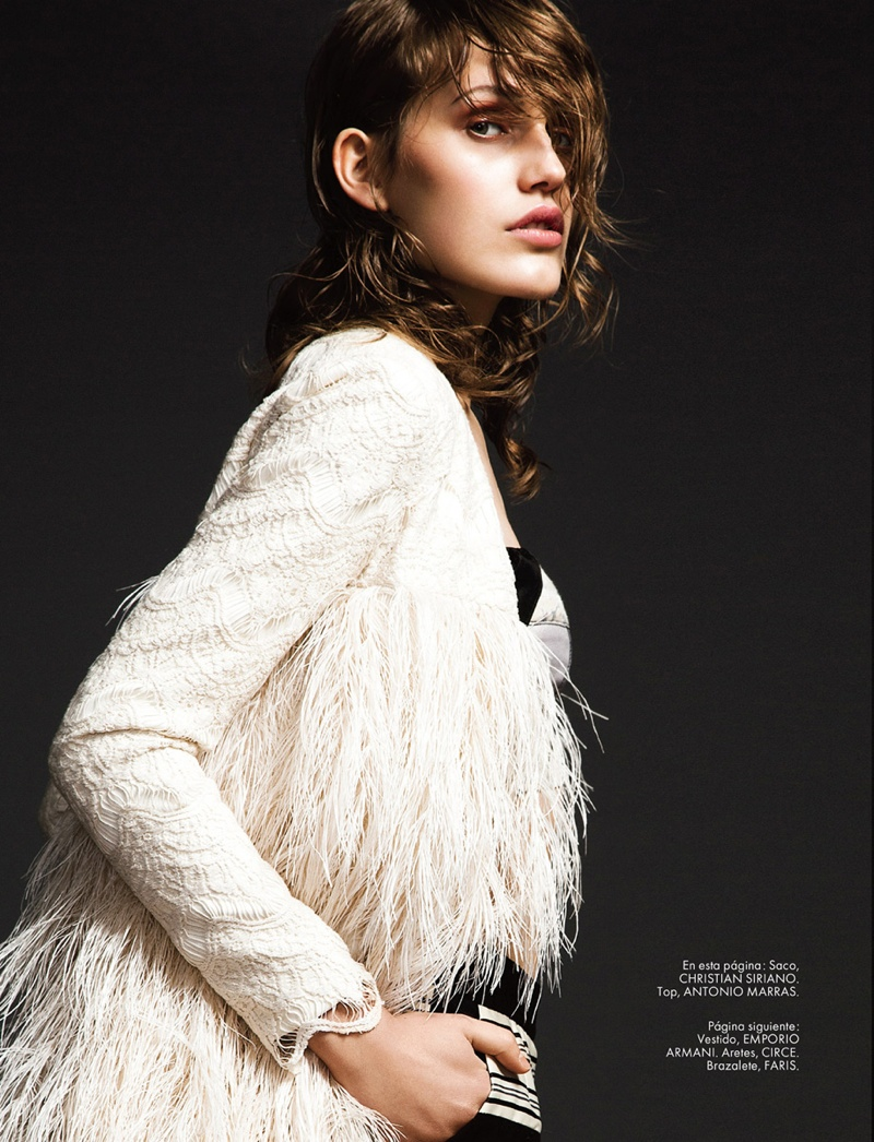 karolina waz model2 Karolina Waz Wears Embellished Style in Elle Mexico by Matallana