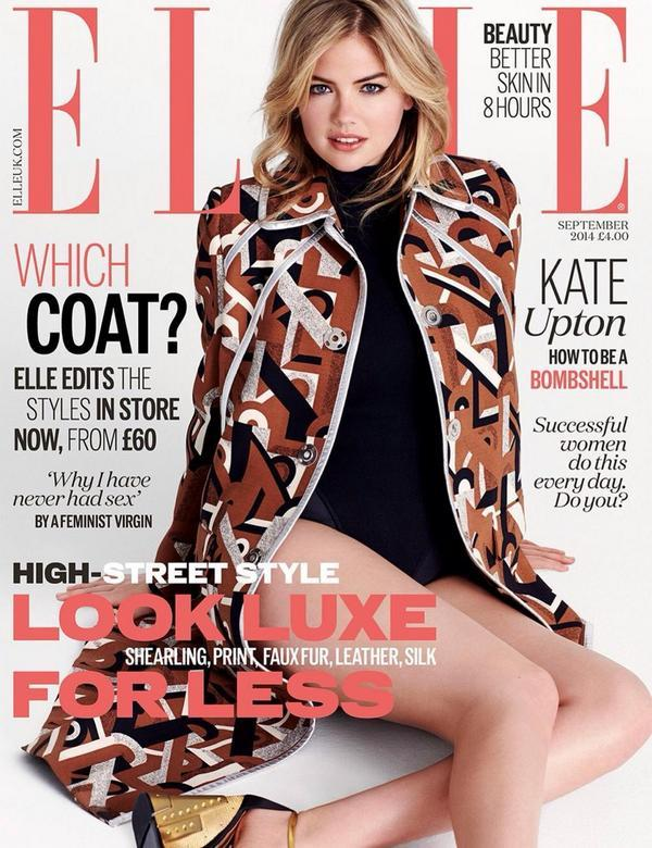 Kate Upton Lands ELLE UK September 2014 Cover, Talks Her Famous Body