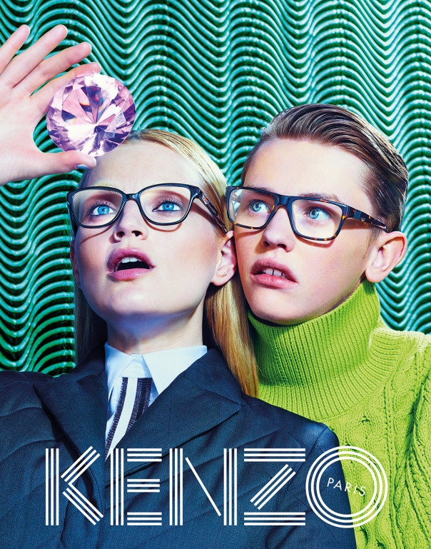More Trippy Photos from Kenzo's Fall 2014 Ads Released