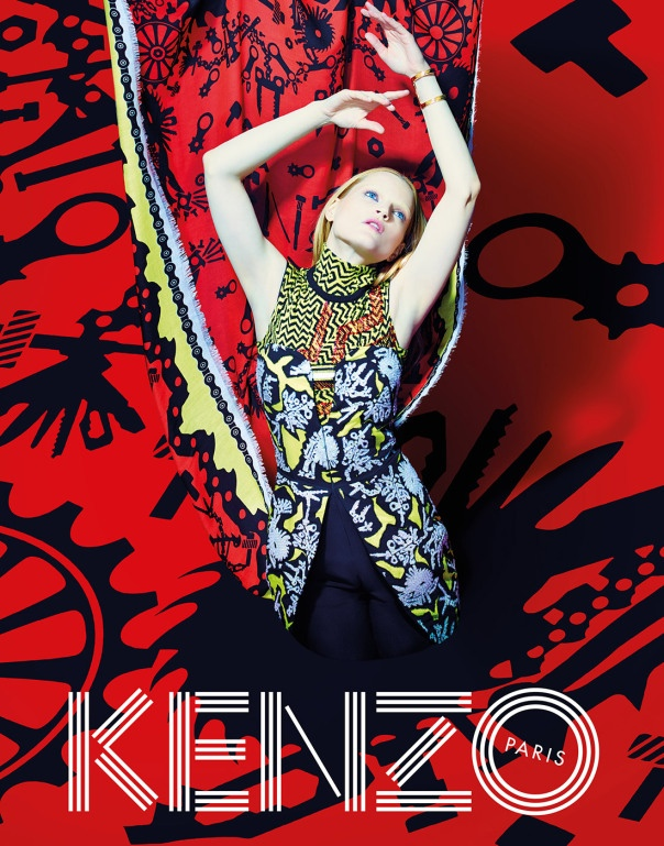 kenzo fall 2014 ad photos4 More Trippy Photos from Kenzo's Fall 2014 Ads Released