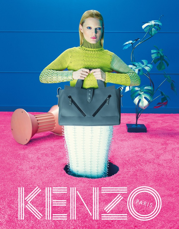 kenzo fall 2014 ad photos6 More Trippy Photos from Kenzo's Fall 2014 Ads Released