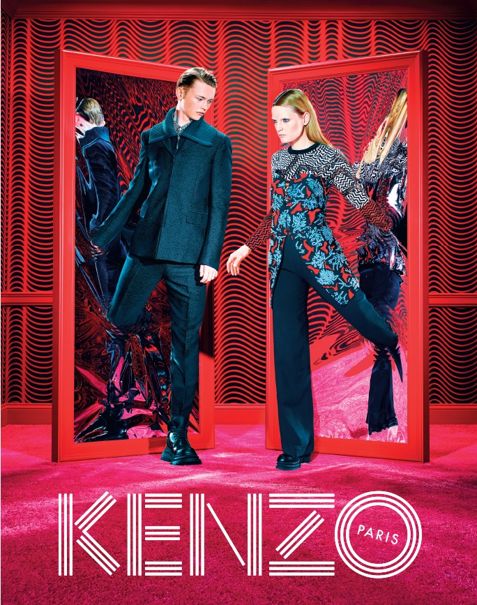 kenzo fall 2014 ad photos7 More Trippy Photos from Kenzo's Fall 2014 Ads Released