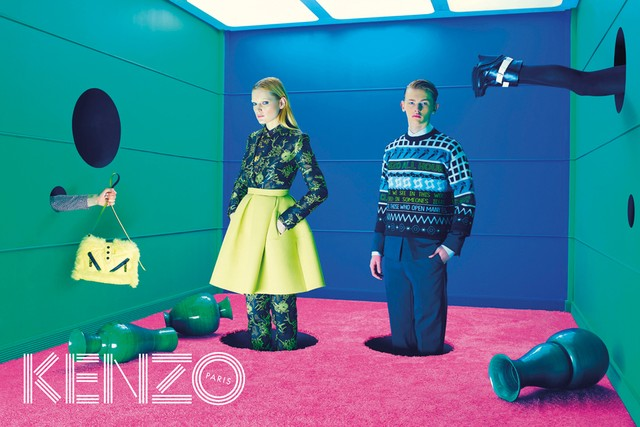 First Look | Guinevere Van Seenus for Kenzo's Fall 2014 Campaign