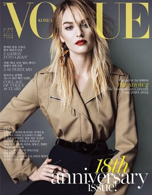 kr001 Candice Swanepoel, Anja Rubik, Joan Smalls + More Cover Vogue Korea August 2014