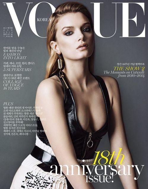kr005 Candice Swanepoel, Anja Rubik, Joan Smalls + More Cover Vogue Korea August 2014