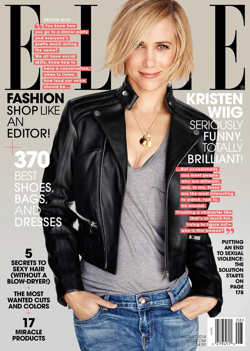 kristen wiig elle 2014 4 Kristen Wiig Stars in ELLE, Talks Doing Dramatic Roles