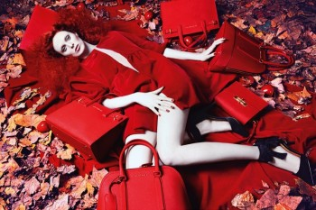Karen Elson Channels Red Riding Hood in Kurt Geiger Fall Ads