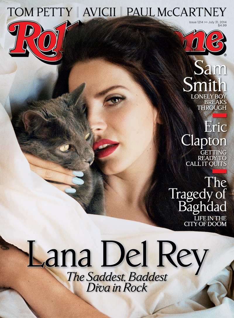 lana del rey rolling stone 2014 cover Lana Del Rey Poses in Bed for Rolling Stone Cover