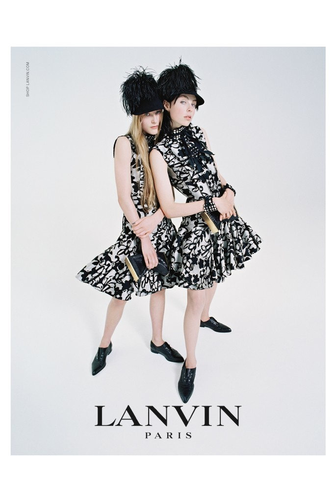 lanvin 2014 fall campaign1 Edie Campbell & Her Family Front Lanvins Fall 2014 Campaign