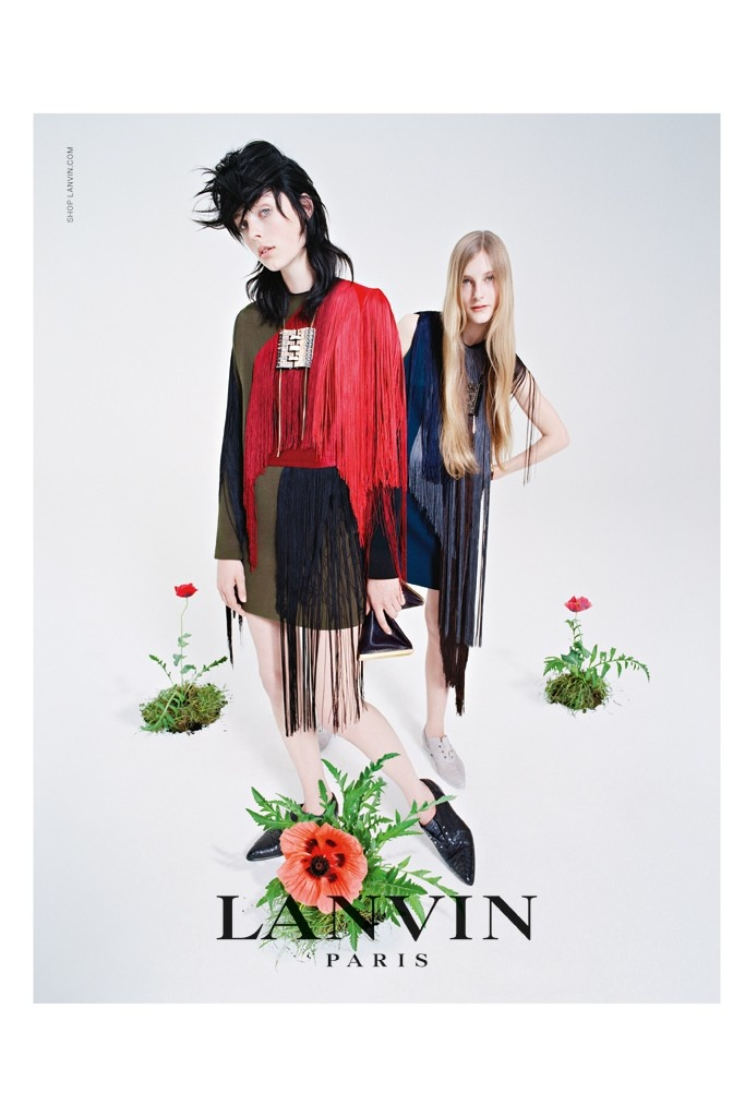 lanvin 2014 fall campaign2 Edie Campbell & Her Family Front Lanvins Fall 2014 Campaign