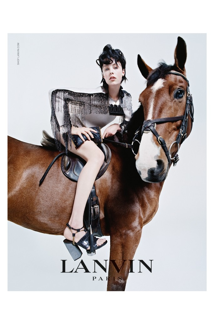 lanvin 2014 fall campaign5 Edie Campbell & Her Family Front Lanvins Fall 2014 Campaign