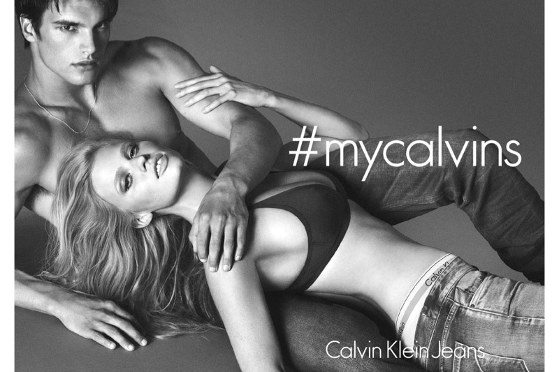 lara stone calvin klein 2014 fall ads1 Lara Stone is Back for Calvin Klein Jeans Fall 2014 Campaign