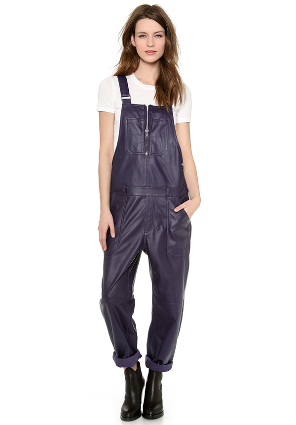 Acne Studios Chagall Leather Overalls available at Shopbop for $880.00