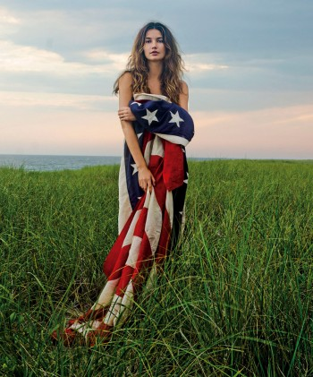 "Lily Aldridge in ""American Beauty: A Tribute to the Women Who Symbolize Our Country Today"" by Clairborne Swanson Frank"