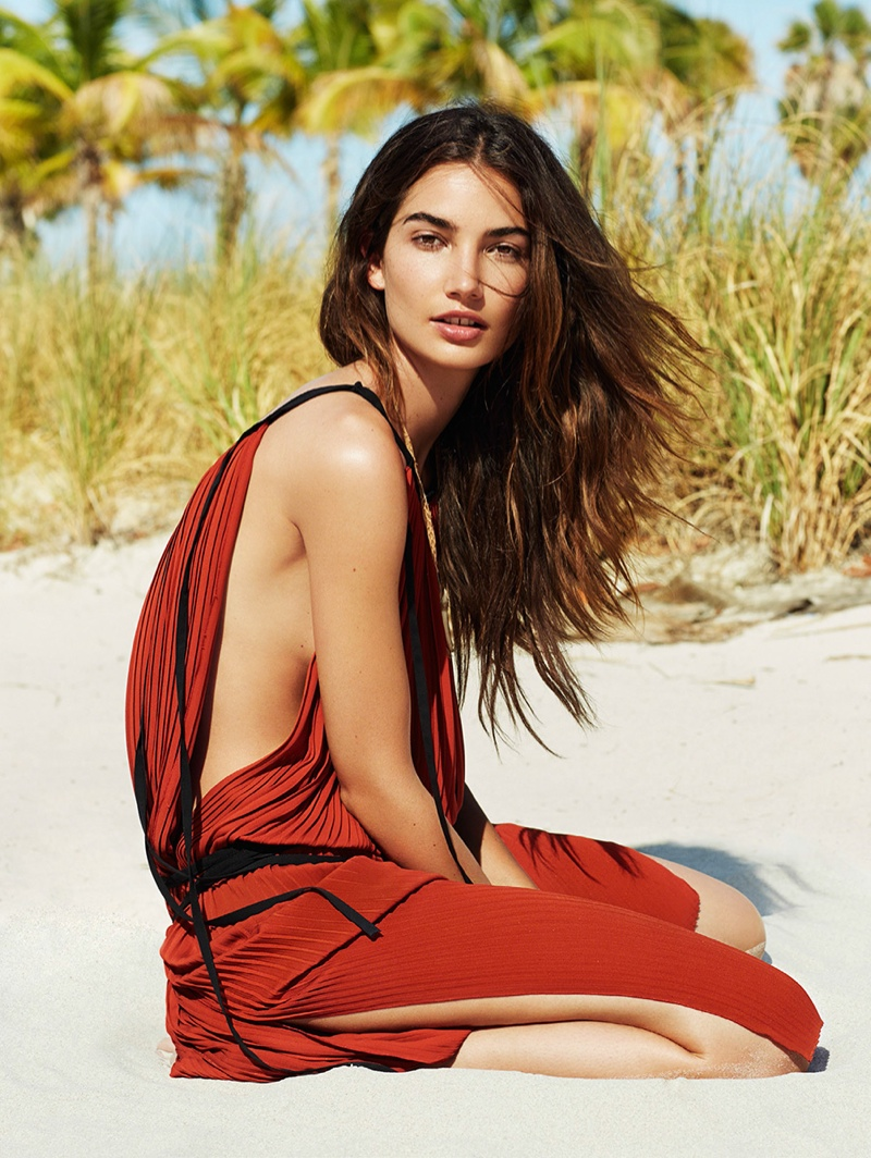 Lily Aldridge Wears Bohemian Style for Glamour France by Derek Kettela